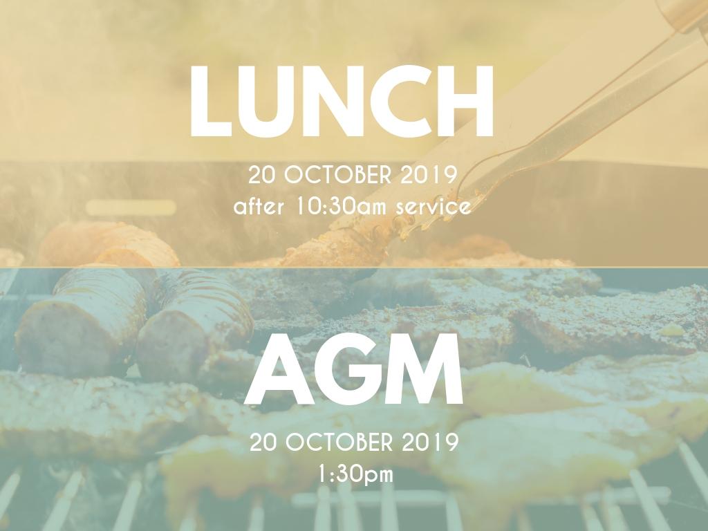 Church Lunch + AGM